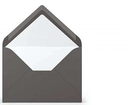 Briefumschläge gefüttert