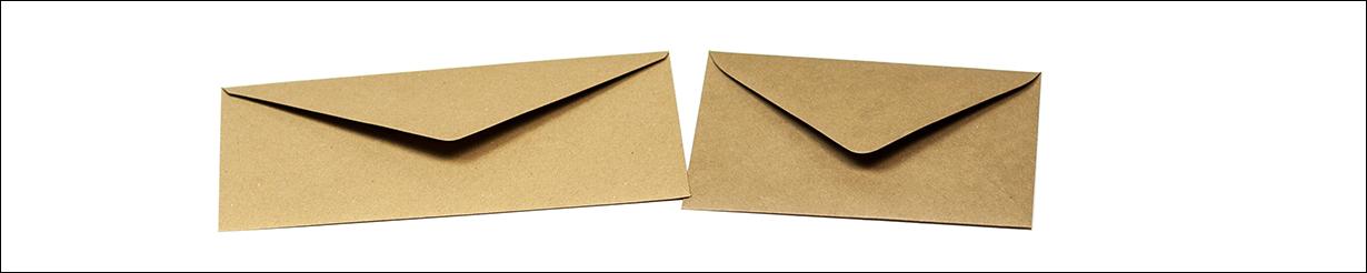 Briefumschläge aus Kraftpapier