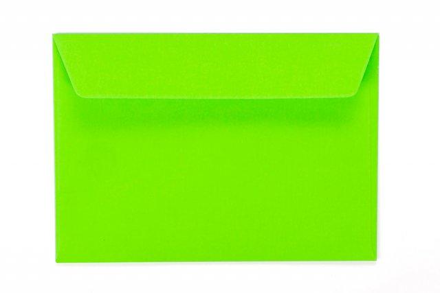 Briefumschläge DIN C6 haftklebend, Neon Grün