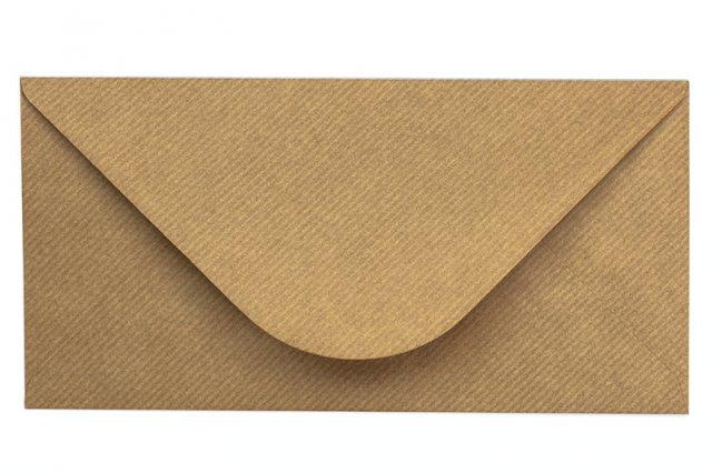 Briefumschläge DIN lang, Natron-Kraftpapier gerippt
