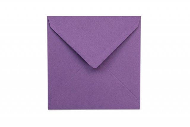 Briefumschläge Quadratisch 130x130 mm, Lila