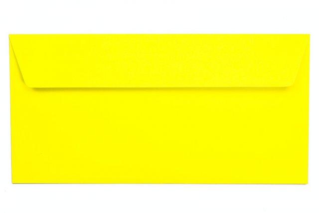 Briefumschläge DIN Lang haftklebend, Neon Gelb