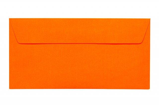 Briefumschläge DIN Lang haftklebend, Neon Orange